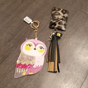 Two keychains owl and wallet